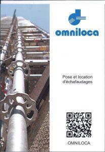Présentation commerciale de l'activité de location et pose d'échafaudages : plaquette Omniloca