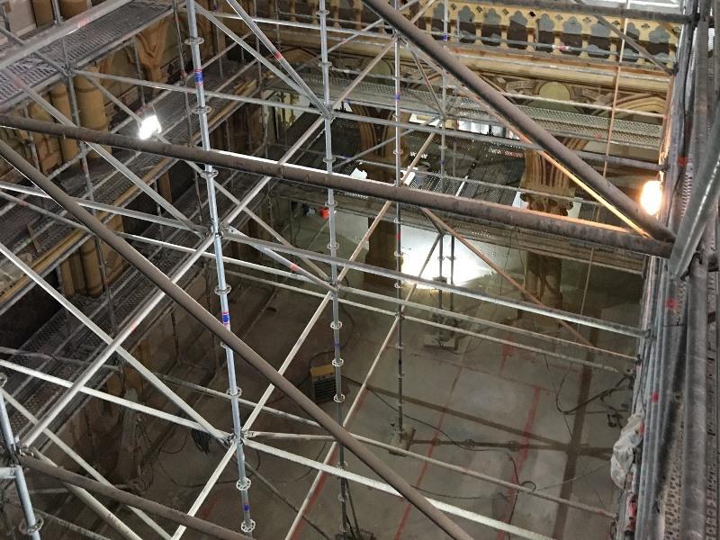 Renovation chapelle jean xxii metz - protection des planchers anciens en bois