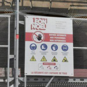 Sécurité sur le chantier de l'opéra théatre de Metz